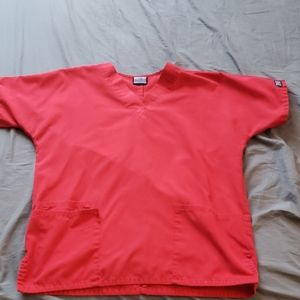 Red Cherokee scrub top size XS